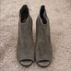 Halogen peep toe heeled booties